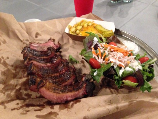 Alpine, TX: Pork ribs and baked hominy