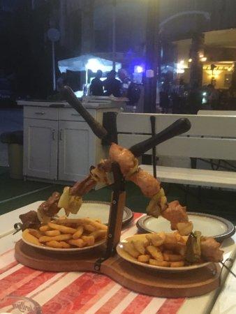 """Restaurant Hemingway: Special Bulgarian treat - """"crossed swords"""" - tasty grill!"""