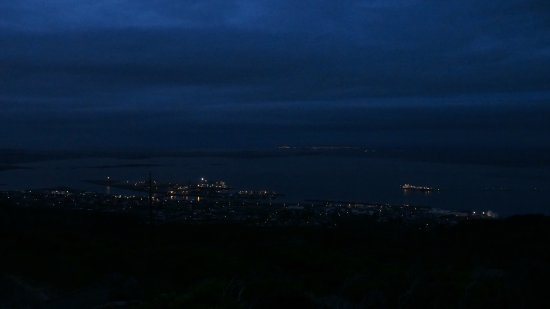 Night time view overlooking Bluff, SouthPort, Invercargill and beyond.