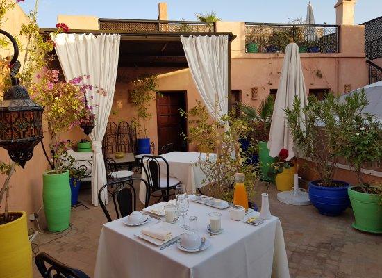 Riad Al Badia: terraza