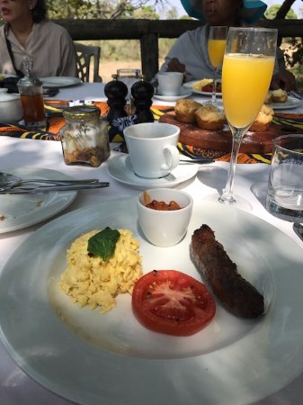 Manyeleti Game Reserve, South Africa: Breakfast