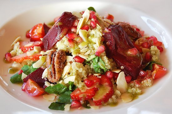 Quinoa Tabbouleh Salad with roasted beets, arugula ...