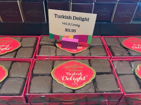 Yarra Glen, Australia: Turkish Delight Dipped in chocolate