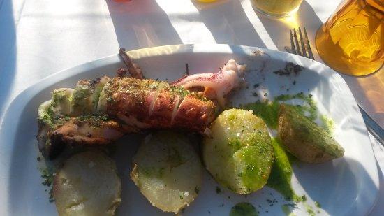 Province of Malaga, Espanha: calamar a la leña