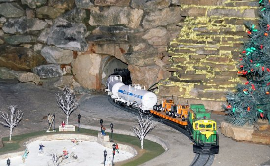Overland, MO: A Train Exits The Tunnel