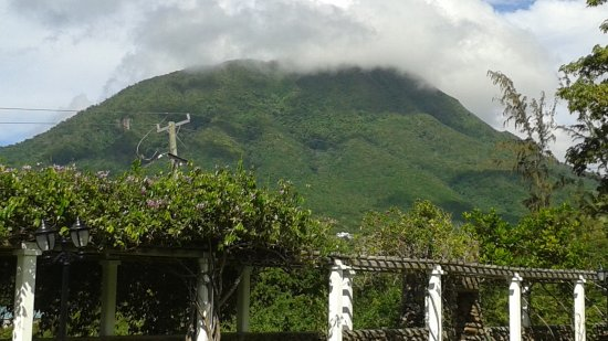 View of Mount Nevis from gardens