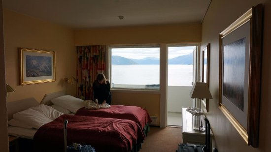 Balestrand Hotel: The view you wake up to