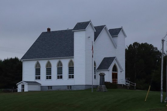 Whycocomagh, Canadá: First view: The Little Narrows Presbyterian Church