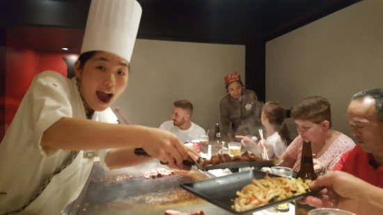 Teppan Edo: The Chefs are amazing, entertaining and skilled.