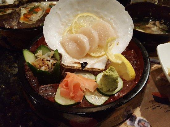 246c32bcdb2 House of Kobe  Fresh scallops were the bomb. a look inside at sushi bar