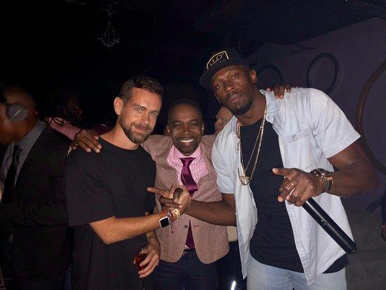 Jack Dorsey Ceo Twitter David Annakie And World S Fastest Man Usain Bolt Bild Von Fiction Nightclub Kingston Tripadvisor