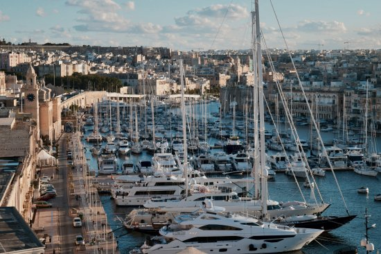 Birgu (Vittoriosa), Malta: Vista di Birgu/Vittoriosa da uno dei bastioni