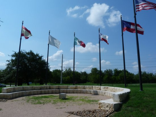 Bryan, TX: Flag Plaza and Council Ring