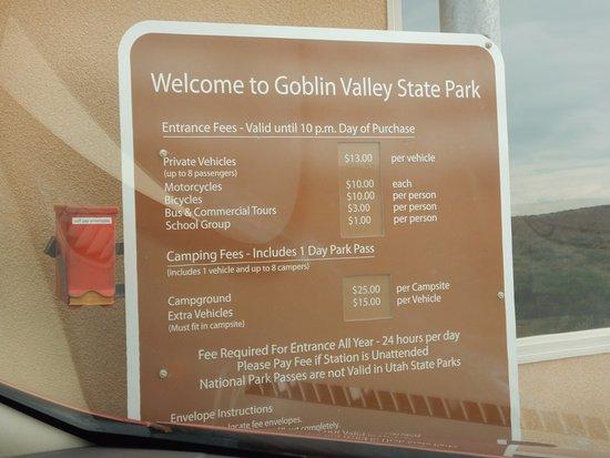 Goblin Valley State Park: Tarifs