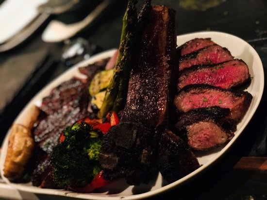 Fort Lee, NJ: Can't take our eyes off of dry aged ribeye!!!!