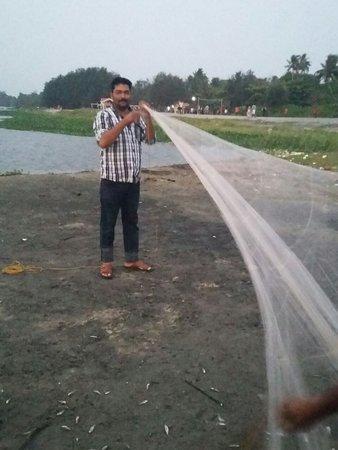 Thottappally Beach: Fishing Nets