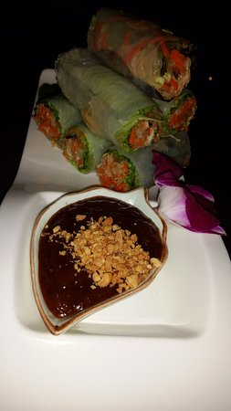 Rancho Cordova, Californie : fresh spring rolls with sauce