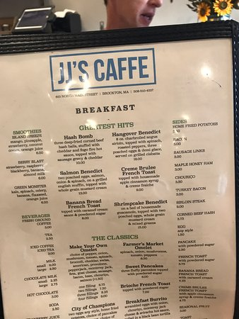 Jj Cafe Brockton Menu