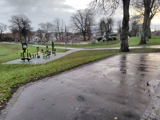 Lisburn, UK: Looking out from Bandstand