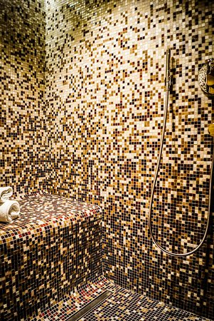 Bad Wimpfen, Germany: Dusche mit beheizter Sitzfläche