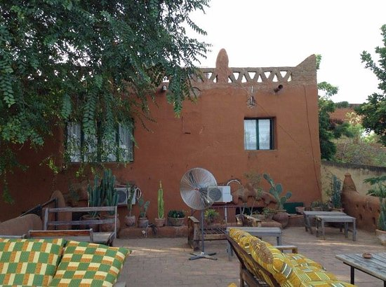 Segou, Mali: terrace with river view..view of main suite