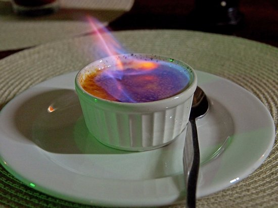 Tofo, Mozambique: Flaming Creme Brule