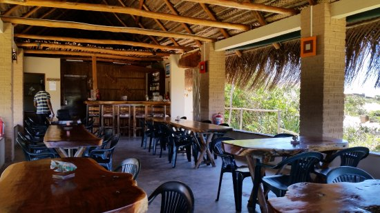 Tofo, Mozambique: Temporary Restaurant situated at Aquatico Ocean Lodge