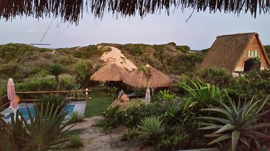 Tofo, Mozambique: View from restaurant
