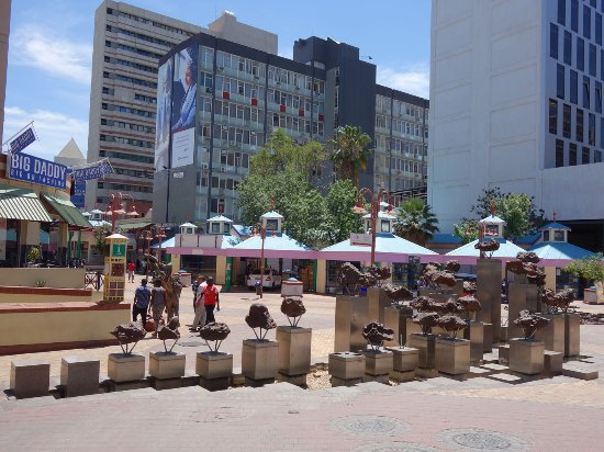 Windhoek, Namibia: behind is the tourist information.