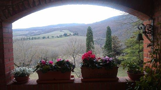 Agriturismo Esperia: Вид с крыльца террасы