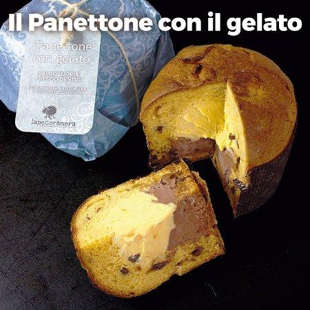 Bedizzole, Italy: panettone farcito con gelato...caldo fuori e freddo dentro