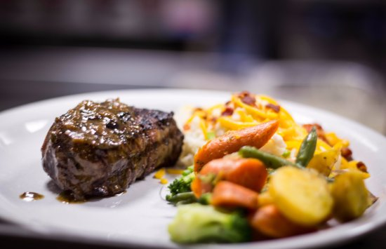 Steak And Veggies Picture Of Yellow Rose Steak And Chop House