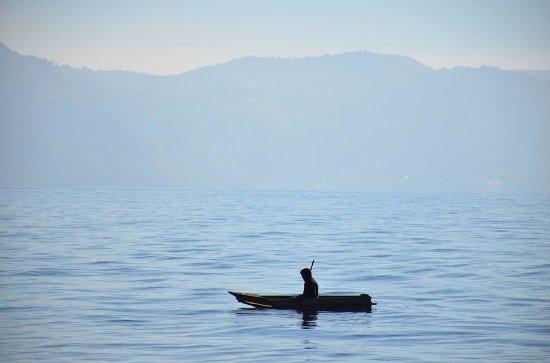 Lake Atitlan, Guatemala: Desde el muelle de San Marcos La Laguna