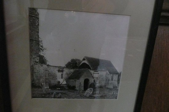 Challock, UK: An old photo of the ruined church