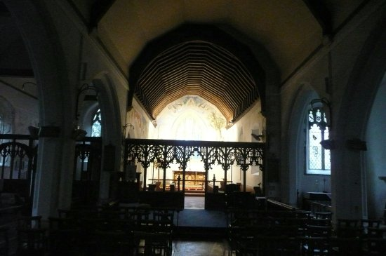 Challock, UK: Looking towards the altar area