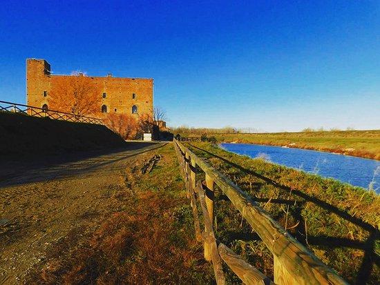 Arena Po, Italy: Il Castello   visto dalla Diga
