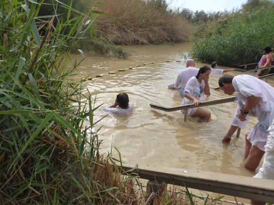 Christen Beim Taufen Am Jordan изображение The Baptism