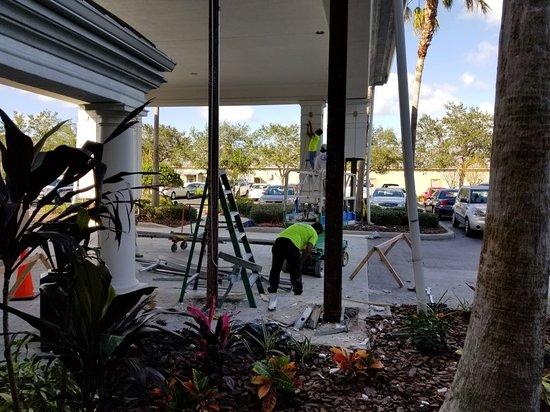 Bill Lewis of Fort Lauderdale visiting the Holiday Inn Lakewood Ranch in Sarasota, Florida.