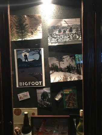 Verdi, NV: Interesting display of pictures of Bigfoot!