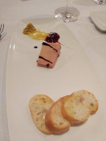 Lezama, España: Foie con puré de frutas