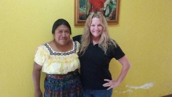 Santa Cruz del Quiche, Guatemala: Señora Rosa at the front desk