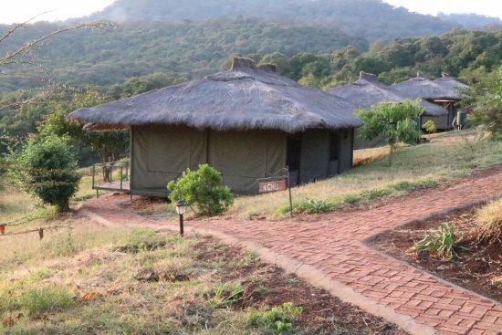 Karatu, Tanzania: First row of tents overlooking the valley below.