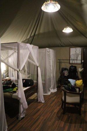 Karatu, Tanzania: Inside the triple tent