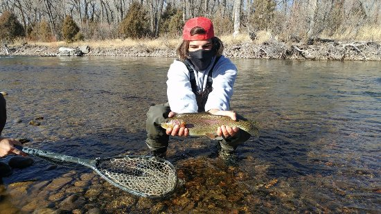 Velarde, Nuevo Mexico: Cold & sunny made for a nice day of fishing