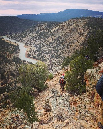 Velarde, Nuevo Mexico: Yes, we trekked down to the river...and back up!