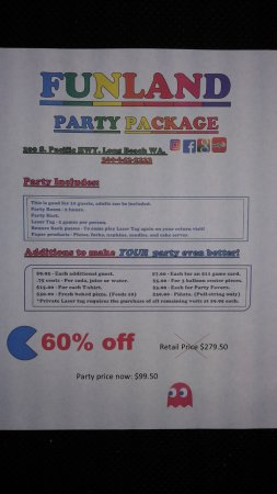 Long Beach, Waszyngton: Looking to have a party?Check out our Party Package! We have options for every budget! Open 10-1