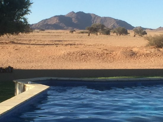 Sossusvlei Lodge: View from the pool