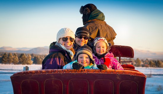 Sunriver, OR: Holiday Horse Drawn Sleigh Rides
