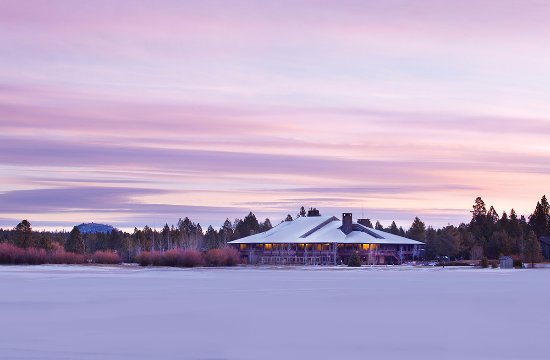 Sunriver Resort Main Lodge Winter Sunrise