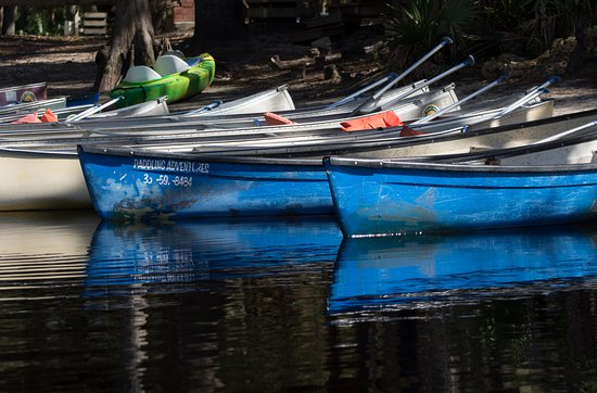Palmdale, Флорида: Canoes at Fish Eating creek outpost